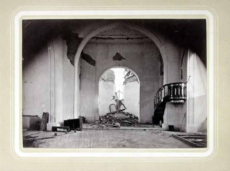 Crkva u Kraljevom Vrhu uništena je u katastrofalnom potresu. Ivan Standl, 1880.