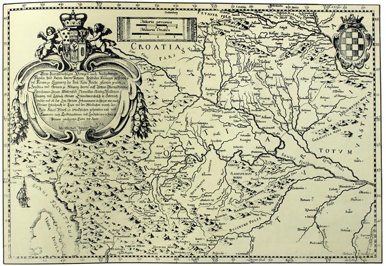 Karta Hrvatske, J. W. Valvasora iz 1689. godine