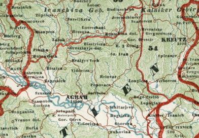 Kraljev Vrh na karti iz 1843. godine
