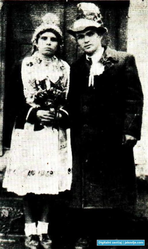 Mladenci iz Jakovlja, 1900. godine