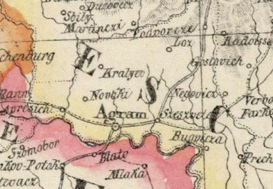 Kraljev Vrh na karti iz 1827. godine